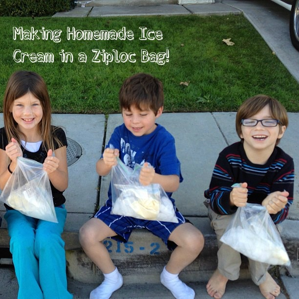 how to make ice cream at home in a bag