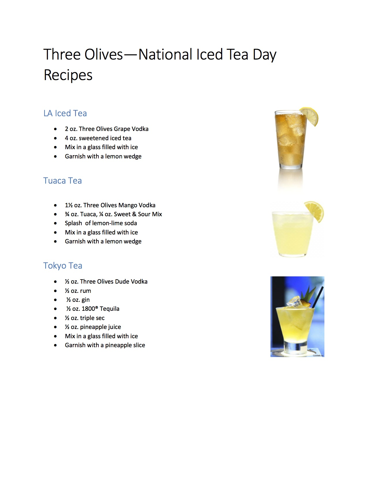 Three olives vodka national iced tea day recipes oc mom blog for California iced tea recipe