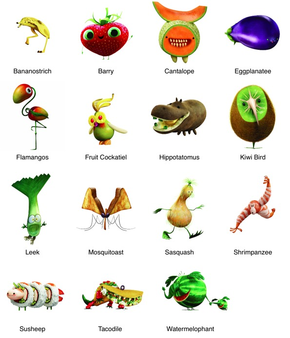 Meet The Food Animals In Cloudy With A Chance Of Meatballs