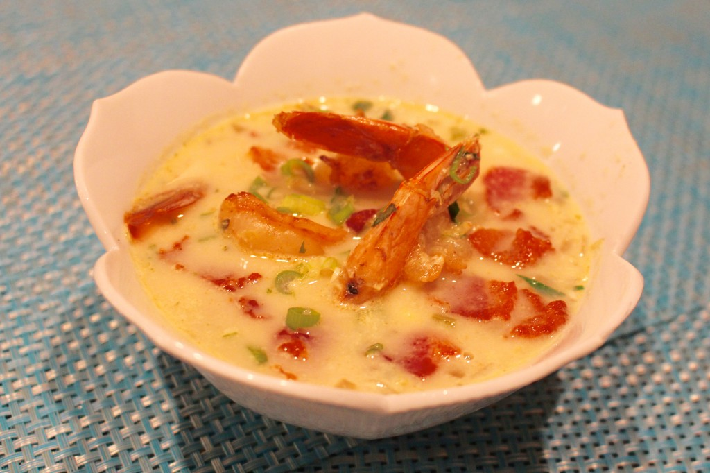 Smoky Summer Corn and Shrimp Chowder - OC Mom Blog