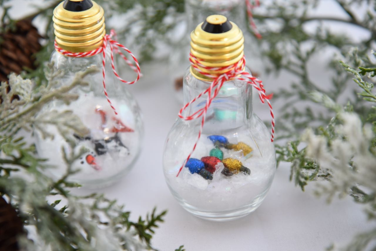 DIY Snow Globe Ornaments | OC Mom Blog