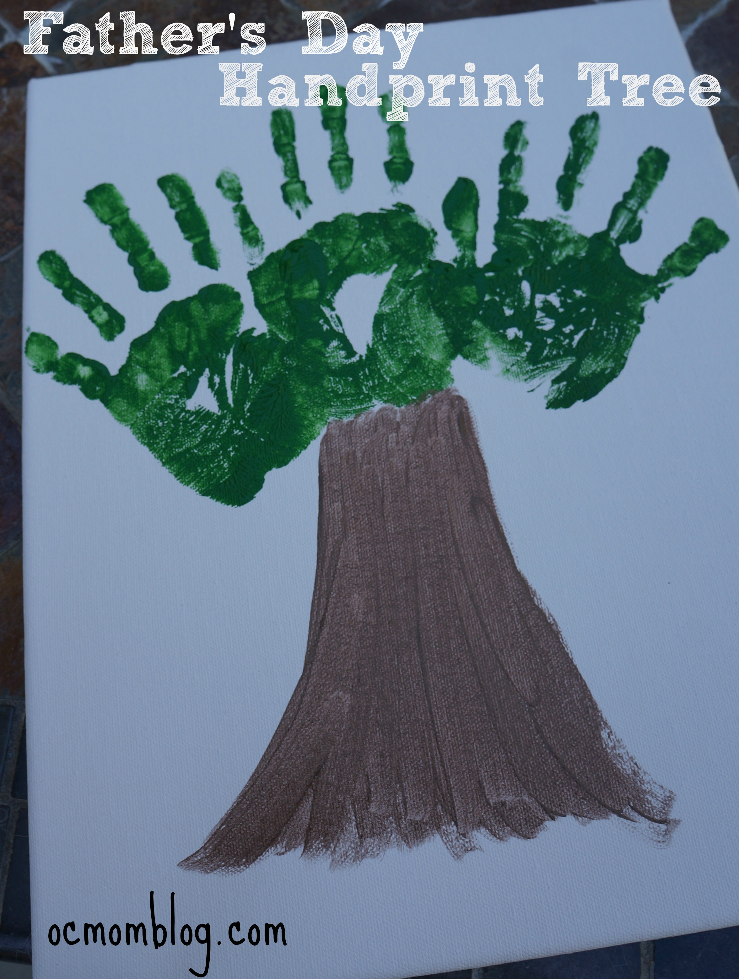Father S Day Handprint Tree Oc Mom Blog