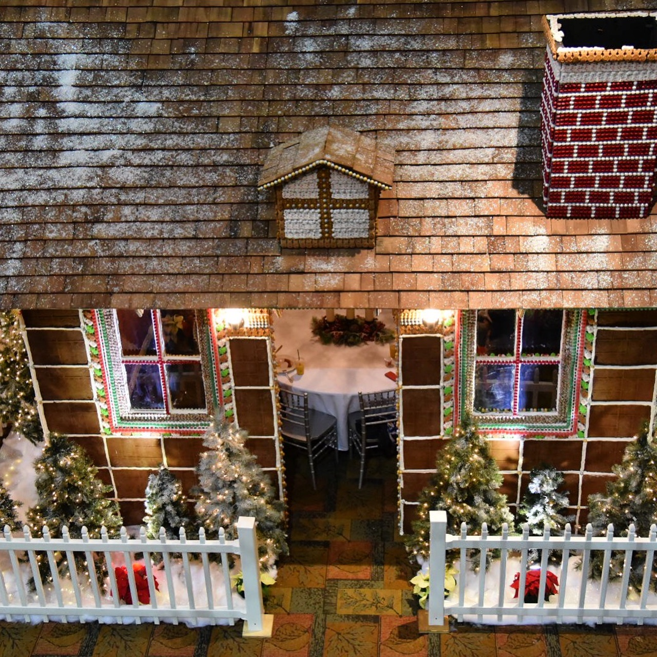 Beach Themed Gingerbread House: Dine Inside Of A Life-Size Gingerbread House